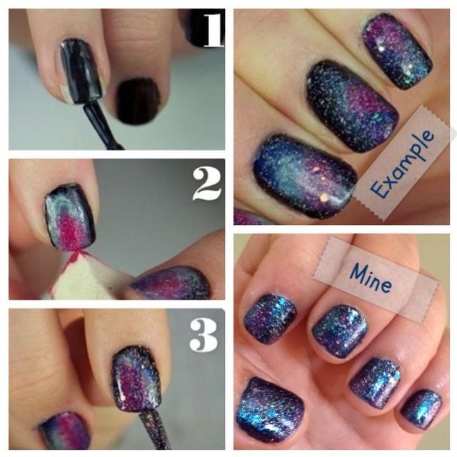 galaxy nails tumblr tutorial - photo #19