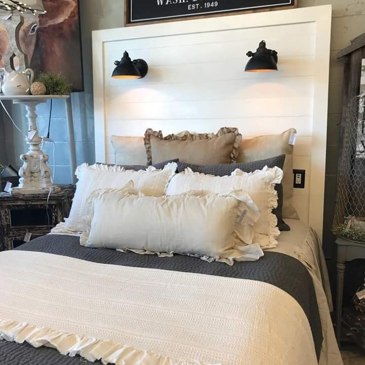 Shiplap Headboard With Lights And Usb Port Easy To Make