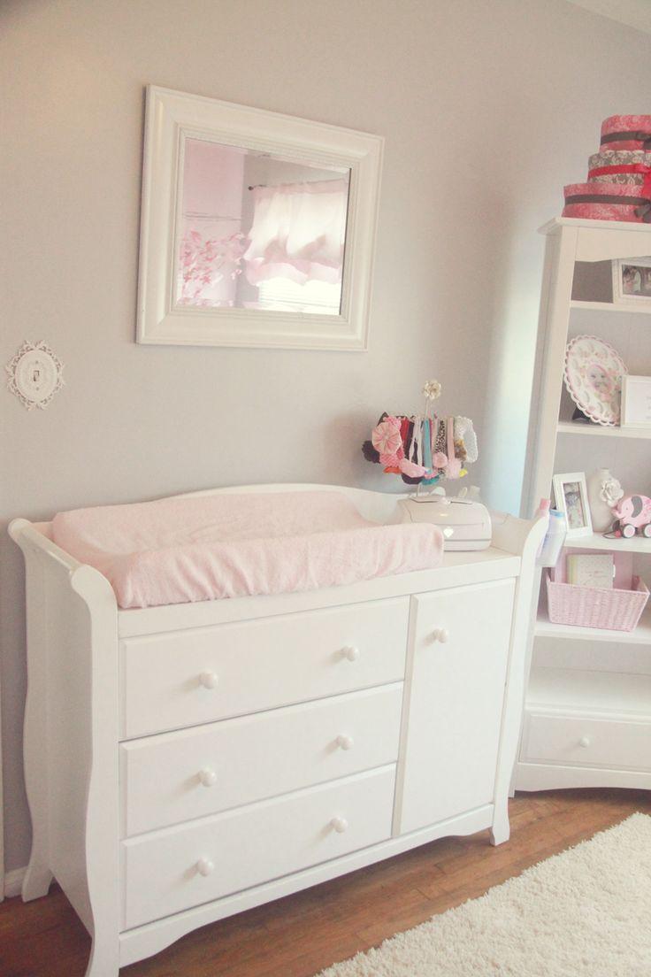 Pretty Pink Gray And White Nursery The Little Umbrella