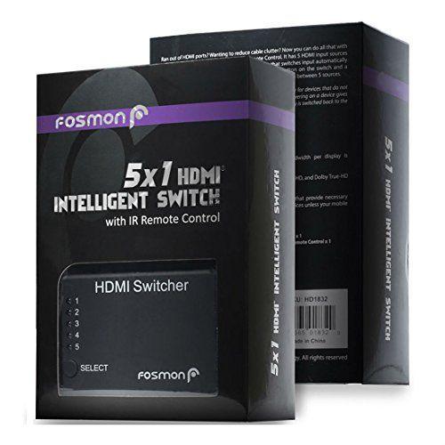 DVD 5 Port HDMI Switcher Switch Splitter Remote Control 1080p Ps3 Xbox 360 Wii U