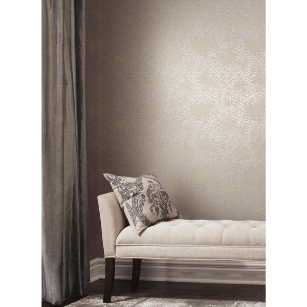 Antonia Vella Eclipse 32 8 L X 20 8 W Metallic Wallpaper Roll Metallic Wallpaper Wallpaper Roll Decor