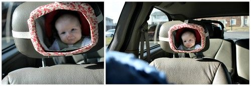 How to spend $5 or less and make your own back seat mirror for your car | Offbeat Families