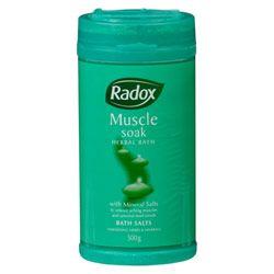 Buy Radox Radox Bath Salts Muscle Soak 500.0 g - Priceline Australia $7.29
