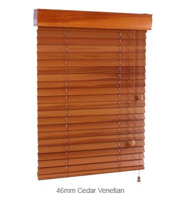 46mm Cedar Venetian Blinds - Viewscape #blinds #venetian