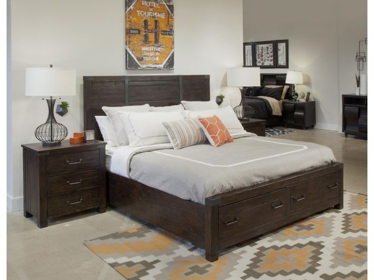 The Pine Hill Queen Bedroom Group 3 by Magnussen Home at Olinde's Furniture in the Baton Rouge and Lafayette, Louisiana area.