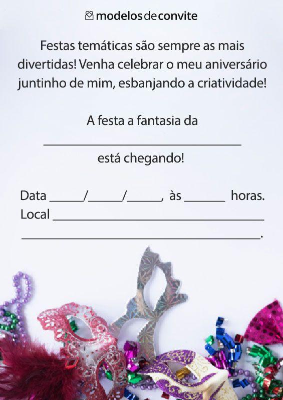 102 Convites De Aniversario Modelos De Convite Convite Festa A