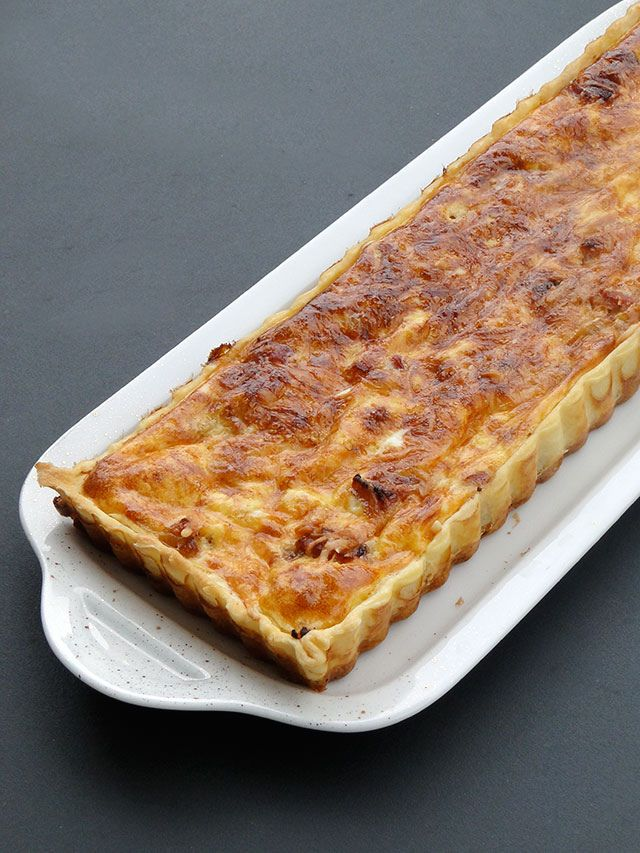 French Onion Tart (Une tarte à l'oignon) --from one of my favorite cities in the world ....