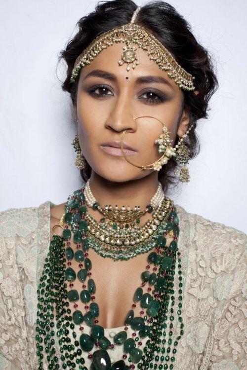 #sabyasachi #jewelry emeralds, gold, green jewelry south asian indian desi fashion