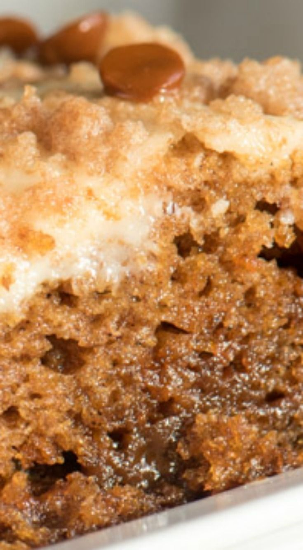 Cinnamon Pumpkin Coffee Cake ~ Luscious...  This coffee cake has a nice, rich, moist texture thanks to the cream cheese layer.