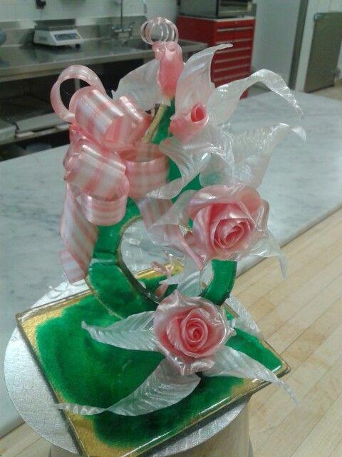 Fleurs en sucre.