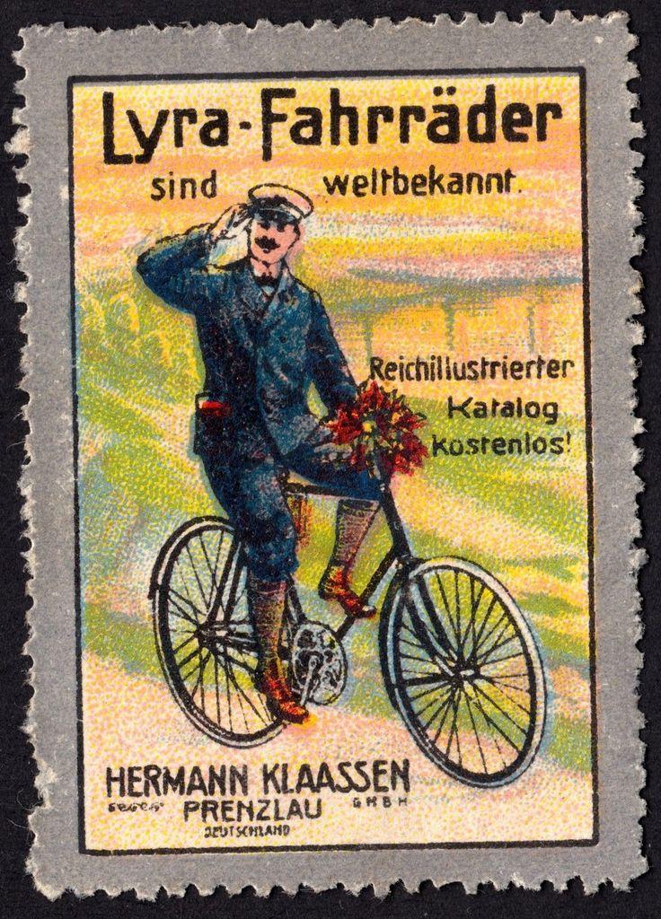 "Werbemarke ""Lyra- Fahrräder"" Lyra-Fahrrad-Werke Hermann Klaassen, Prenzlau…"