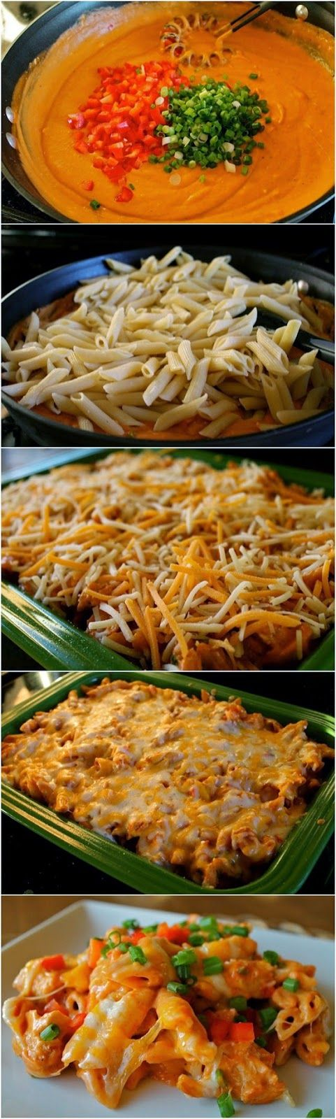 Cheesy Chicken Enchilada Pasta ~ This is the BEST pasta ever!