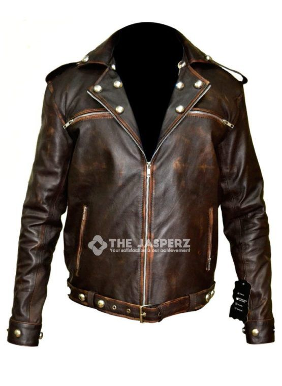 """Sons Of Anarchy Leather Vest crafted by The Jasperz in Genuine Cow, Sheep and faux leather inspired from American drama """"Sons Of Anarchy"""".With free shipping"""