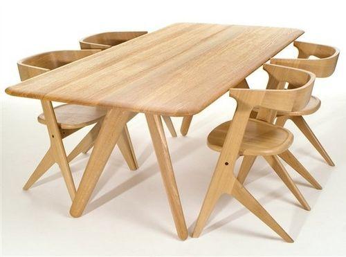 Mesa de comedor moderna de madera maciza de Tom Dixon SLAB: NATURAL Tom Dixon