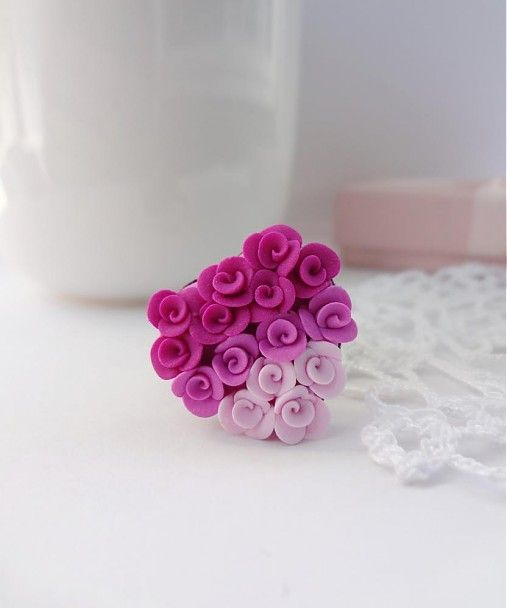 Dettus / Mini roses - fimo jewelry