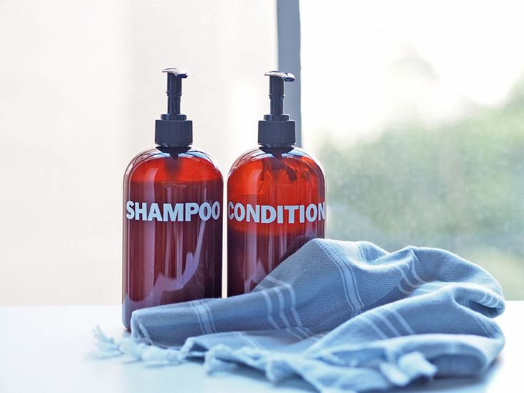 Dress Up Your Shower with DIY Shampoo Bottles | Musings on Momentum