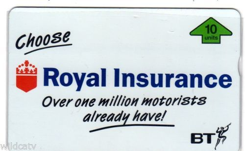 BTX004 ROYAL INSURANCE (full face) - 8 Issued Cat RRRR Ultra Rare