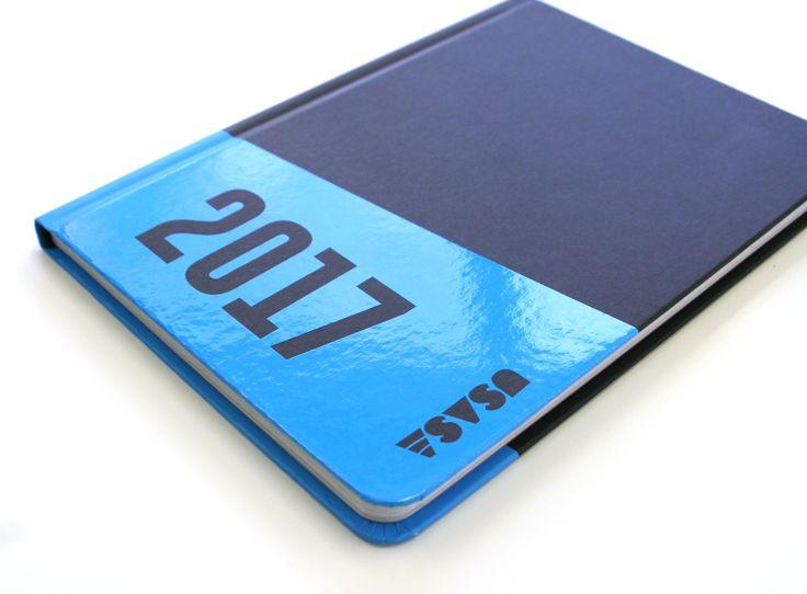 University of South Australia Student Association Diary – print production – spot UV + rounded corners