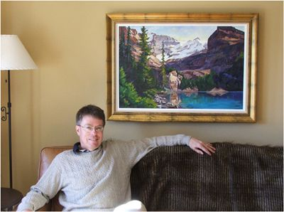 """Ted McFeely with """"Ted's Lake O'hara"""""""