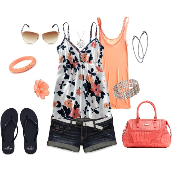 : Summer Casual, Summer Looks, Dreams Closet, Casual Shorts, Flowers Power, Summer Outfits, Springsumm Outfits, Nice Outfits, Sun Hats