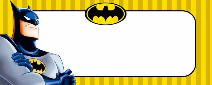 Etiquetas escolares no temaBatman para você editar, imprimir e colar no…