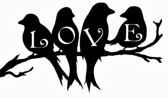 Love Birds on a branch Free SVG download for Valentine's Day