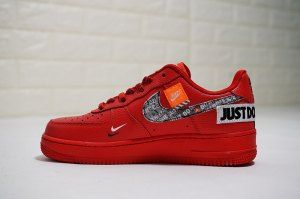 f795f468db354b Mens Womens Nike Air Force 1 Low University Red Black Total Orange AR7719- 106 Running