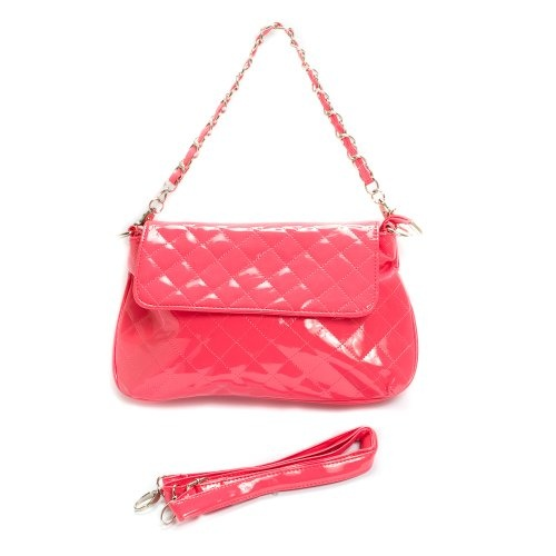 Pink Maya Small Quilted Chain Strap Purse Handbag $19.99
