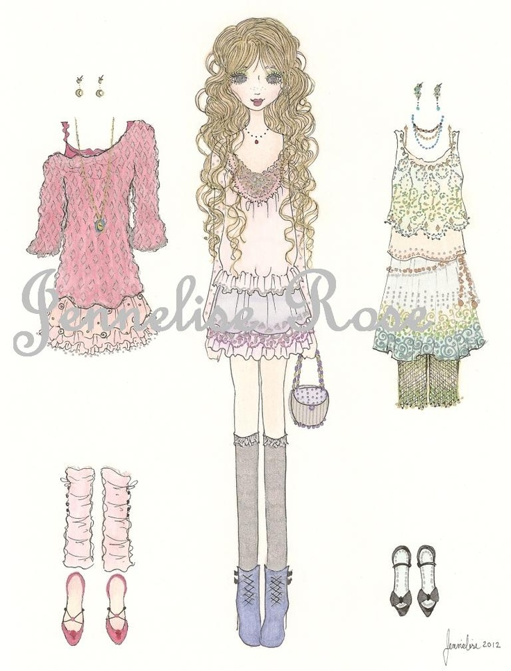Jennelise: New Prints! *1500 free paper dolls at artist Arielle Gabriel's The International Paper Doll Society also free Asian paper dolls at The China Adventures of Arielle Gabriel *