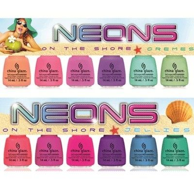 China Glaze Neons On The Shore Summer 2013 nail polish collection