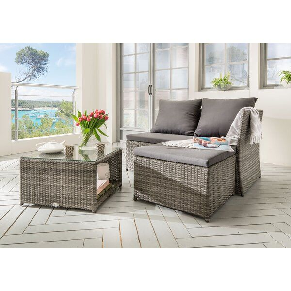 3 Sitzer Lounge Set Cardone Aus Polyrattan Mit Polster Lounge Mobel Lounge Gartenmobel Aussenmobel