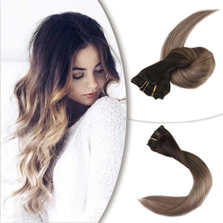 Clip in Extensions 100% Remy Human Hair 10 Pieces Balayage (2/6/18)