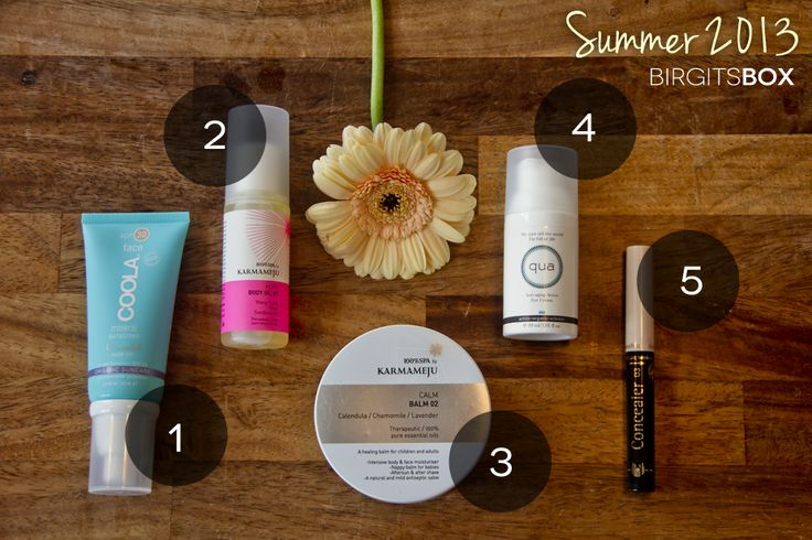 All products and box from this Summer's BirgitsBox. #toxinfreebeauty