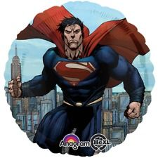 """Superman Man of Steel Mylar (includes one 18"""" foil balloon in a pack)"""