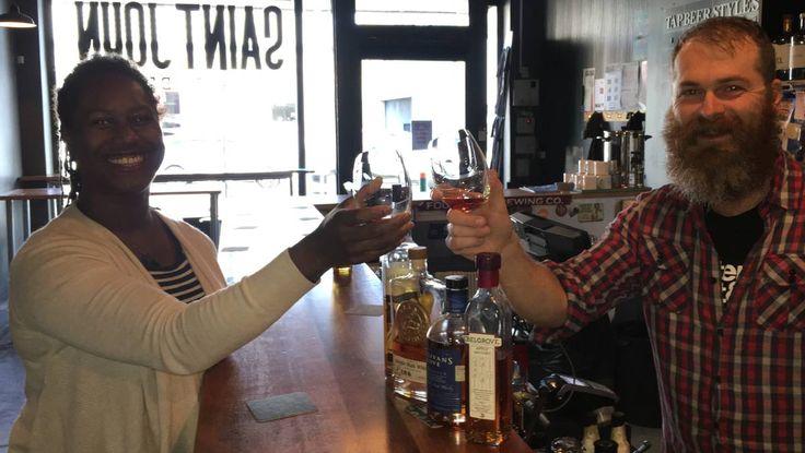 Tasmanian whisky tasting at St John