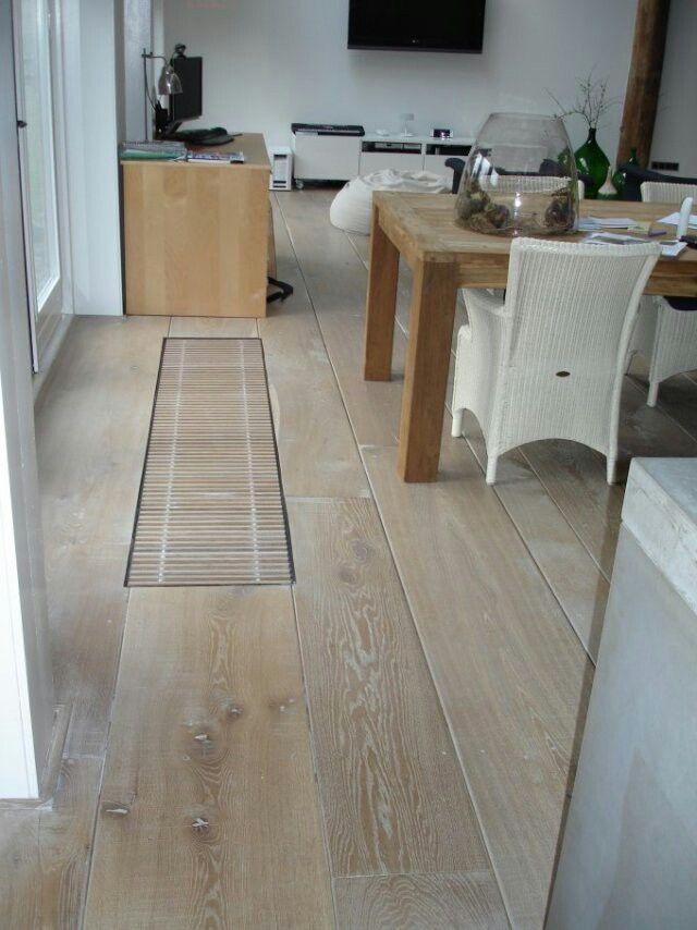 White wash floor