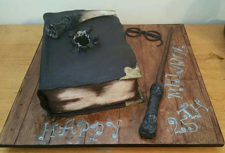 Harry Potter Cake Tom Riddles Diary  lactose free choc mud cake with choc hazelnut ganache.   #harrypotter #tomriddle #cake #cakeart #hogwarts #potter #cupcakes