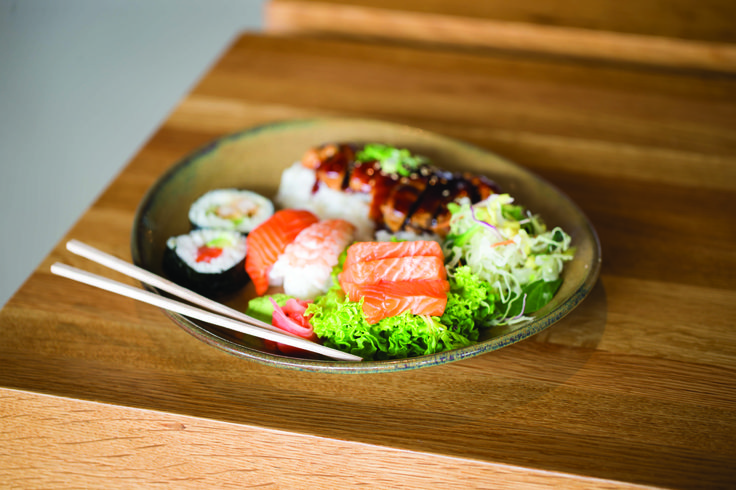 Bento Box from Smart Sushi. On the menu for lunch is the pick-and mix of Japanese cuisine, the bento box. Perfect for children and adults alike, you can devour bits of crispy tempura, delicate pieces of nigiri and sashimi slices in one convenient package.