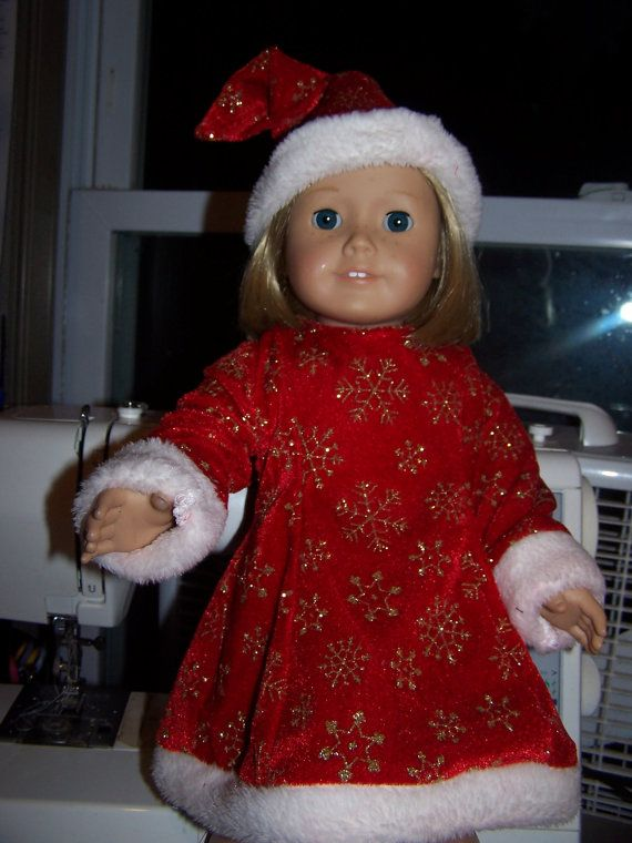 Santa dress and hat by ritassewing on Etsy, $17.00