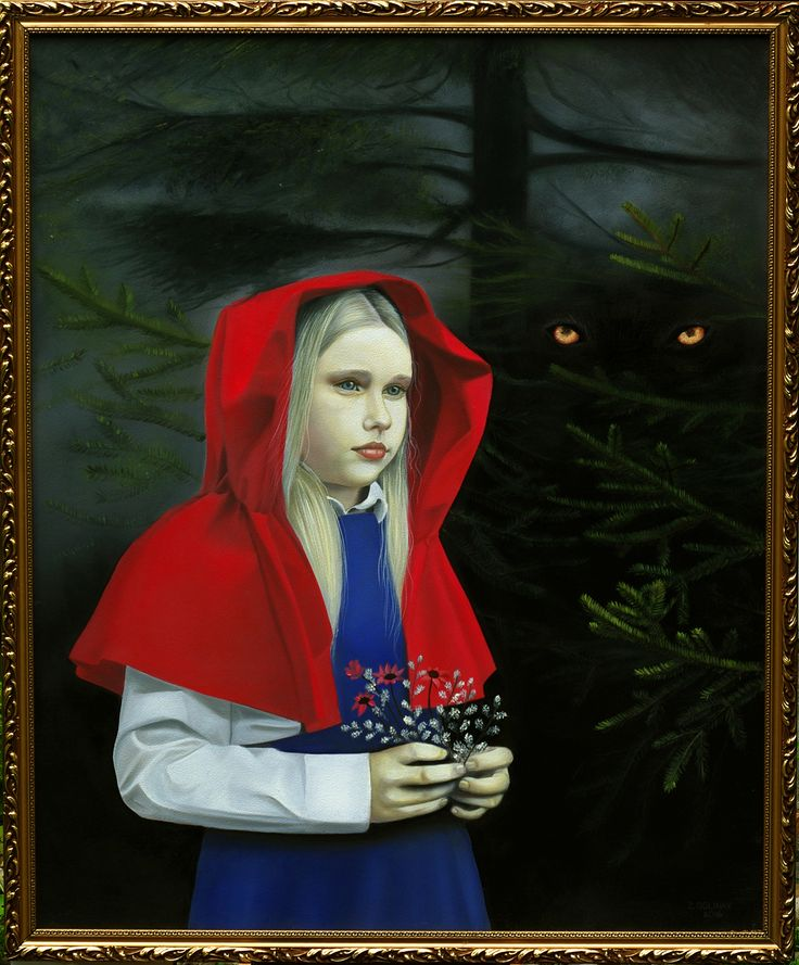 Little red ridding hood, oilpainting, www.zuzanadolinay.com