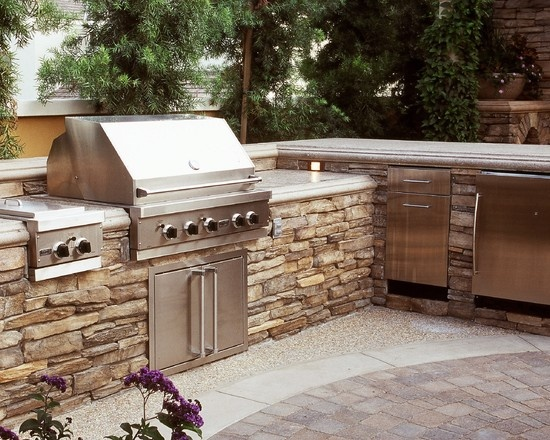 17 best images about outdoor bbq island on pinterest for Bbq kitchen ideas