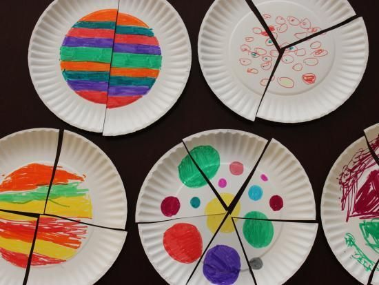 Paper Plate Fraction Puzzles | Kids Crafts & Activities for Children | Kiwi Crate