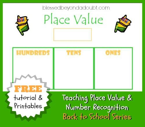 teaching place value and number recognition with an abacus free printables places and place. Black Bedroom Furniture Sets. Home Design Ideas