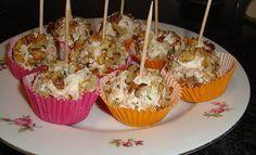Recept voor Truffel van kruidenkaas, garnalen en noten. Meer originele recepten…