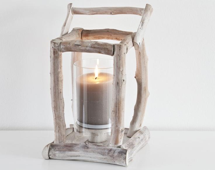 photophore façon lanterne en bois flotté | becquet