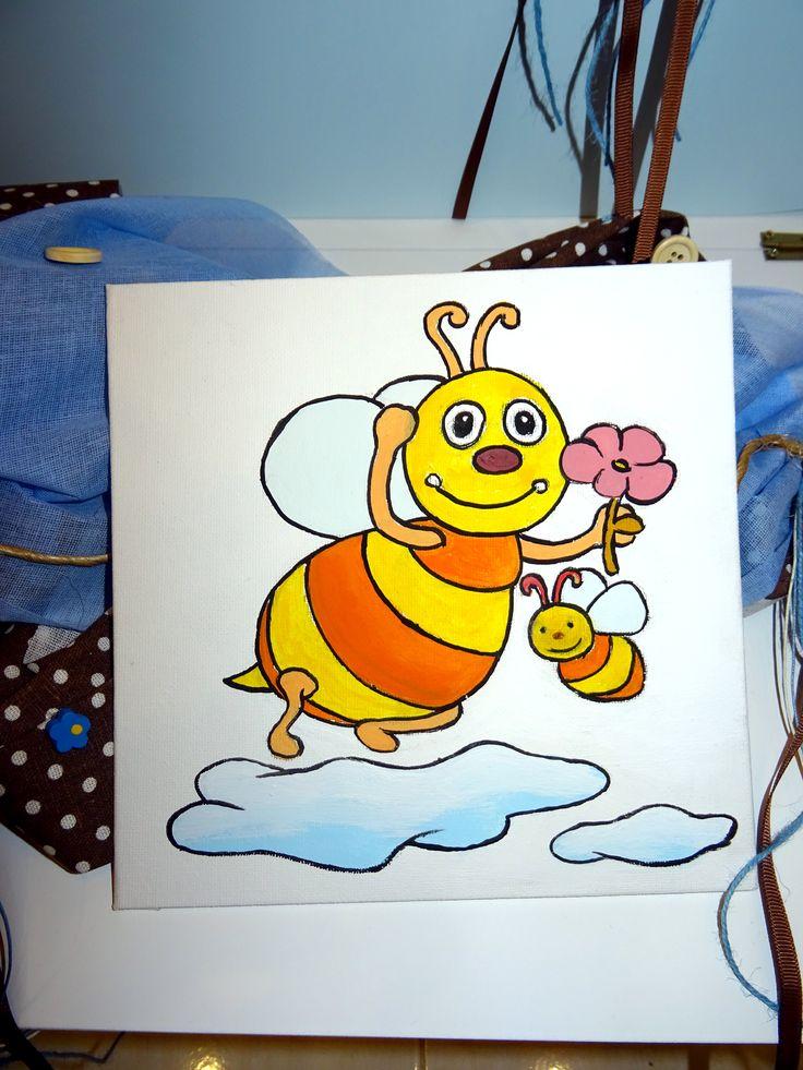 Σετ βάπτισης σχέδιο μέλισσα