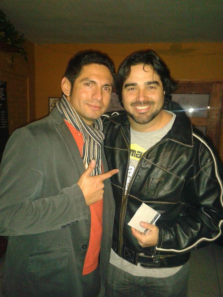 Jano Cid, junto a Pancho López.