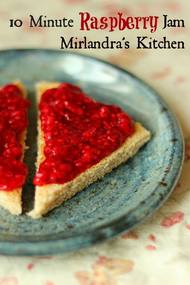 This simple raspberry jam recipe takes 10 minutes and no cooking. Not ...