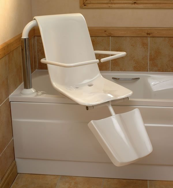Disabled Bath Lift Seat #DisabilityLiving >> Lots more accessible bathroom ideas can be found at http://www.disabledbathrooms.org/handicap-bathroom-accessories.html