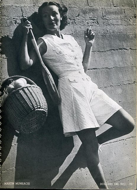 Dolores Del Rio, Harper's Bazaar photo by Martin Munkacsi, 1937